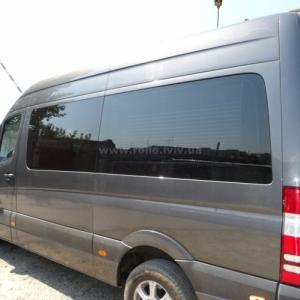 Монтаж жалюзі-плісе у елітний мініавтобус